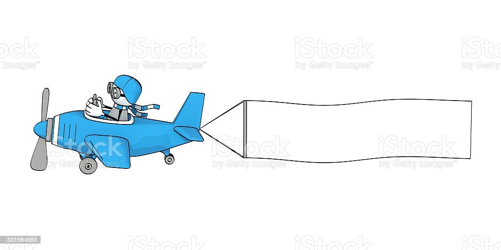royalty free cartoon of a air plane banner pictures images and rh istockphoto com