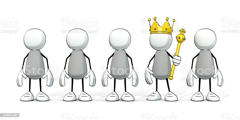 little sketchy men - one with kings crown and scepter - Photo