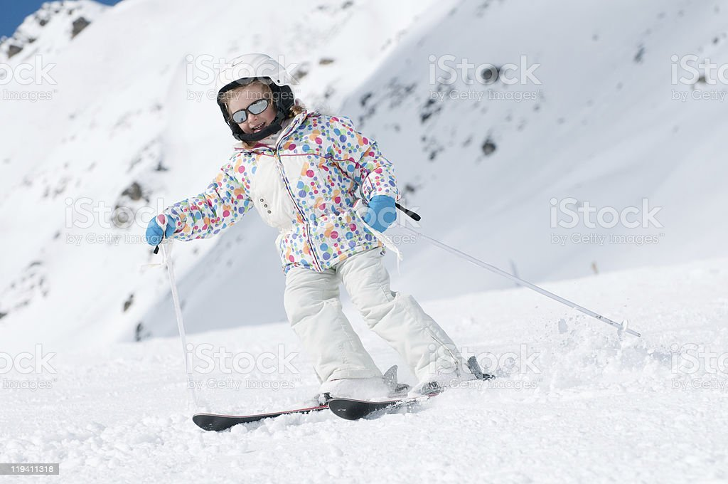 Little skier royalty-free stock photo
