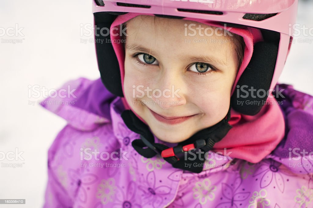 Little skier royalty-free stock photo
