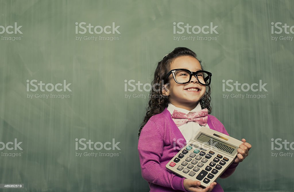 Little Smarty Girl stock photo