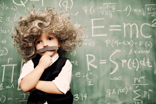 A young smarty pants ponders the meaning of the universe. It is never too early to be smart.