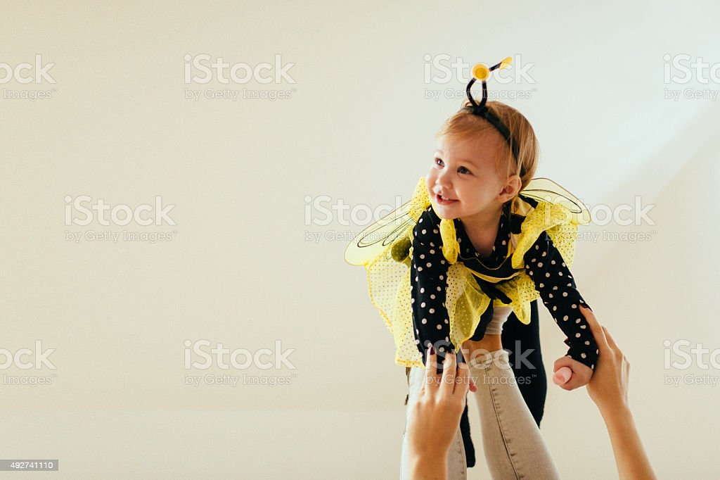 Little smiling bee stock photo