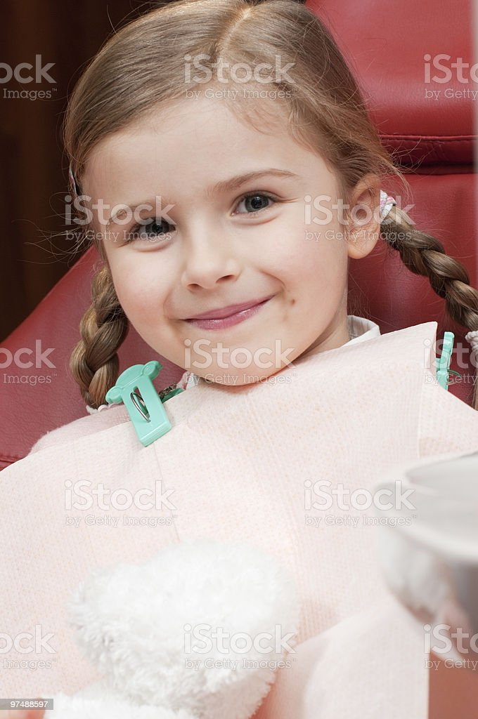 Little smiling patient royalty-free stock photo