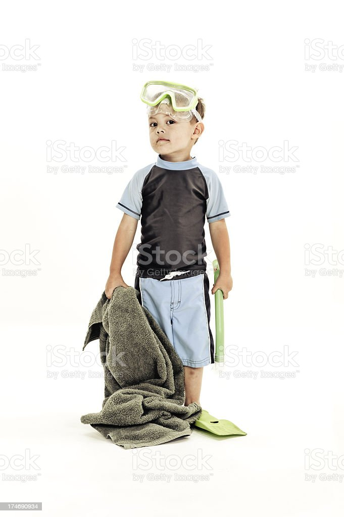 Little Snorkel Dude royalty-free stock photo
