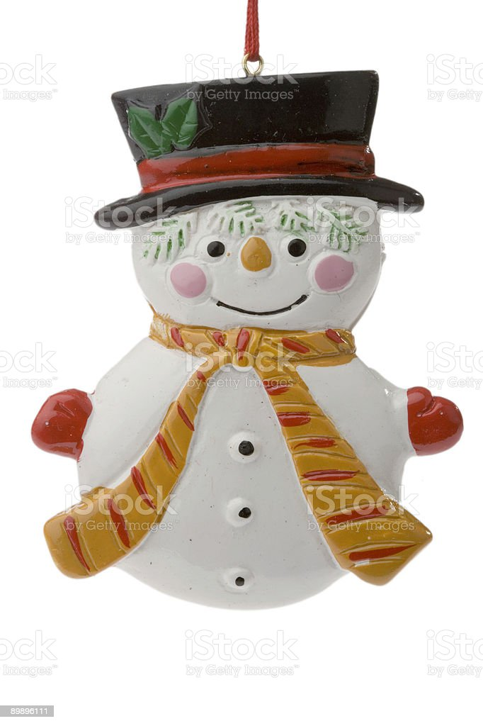 Little snowman royalty-free stock photo