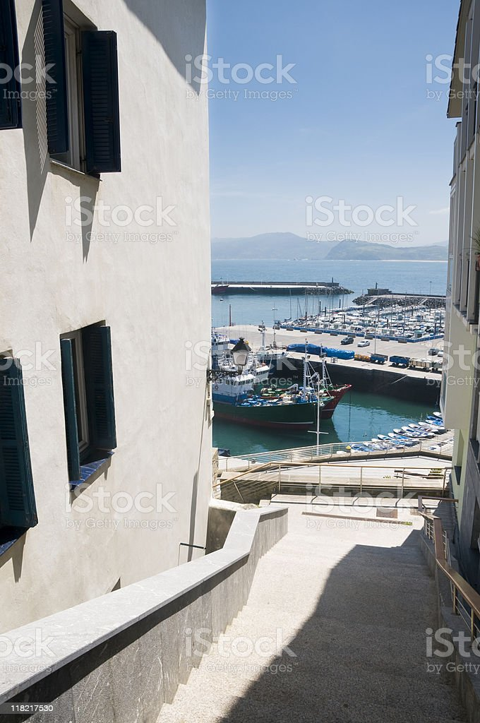Little spanish harbour royalty-free stock photo