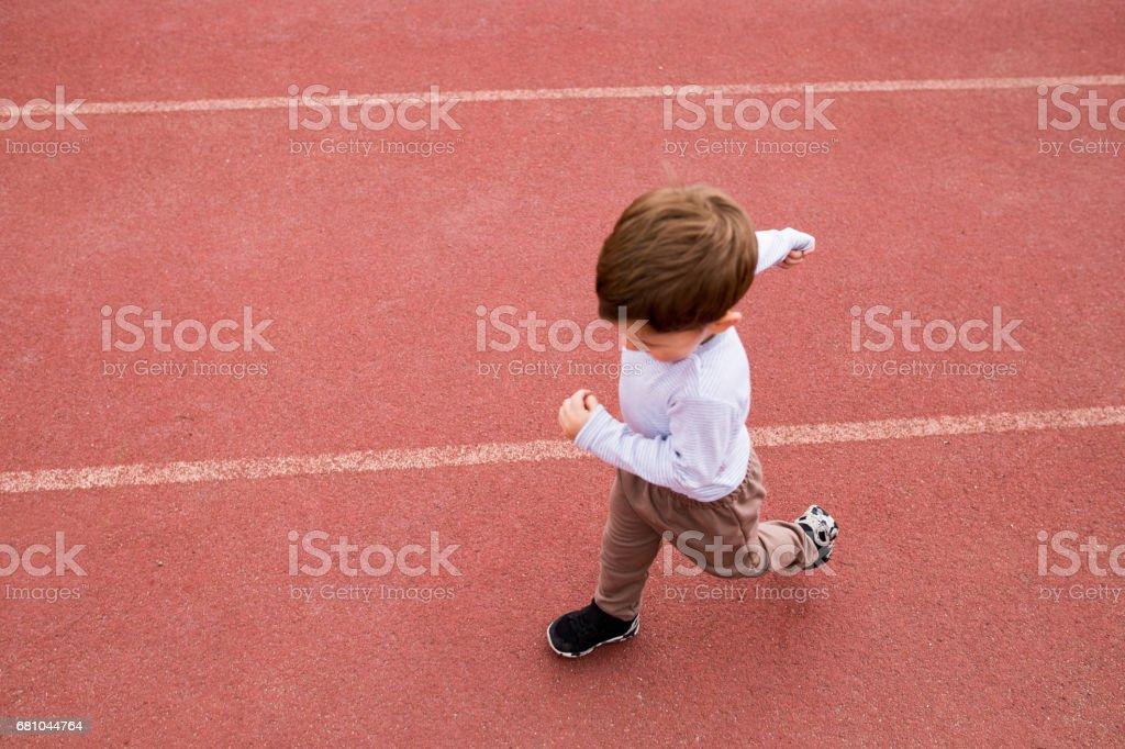 Little sprint runner royalty-free stock photo