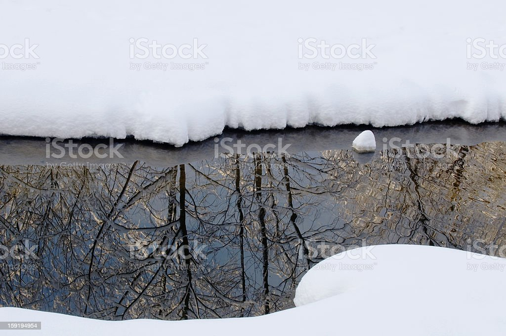 little stream in winter royalty-free stock photo