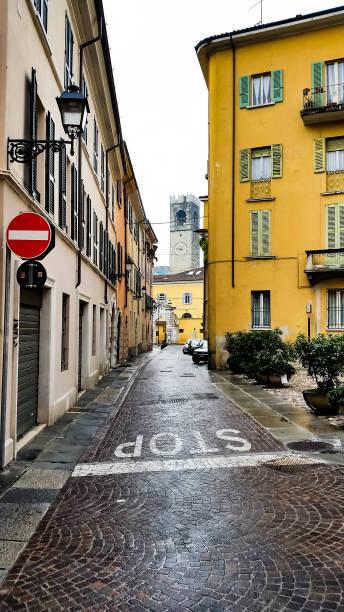 Little street in Italy stock photo