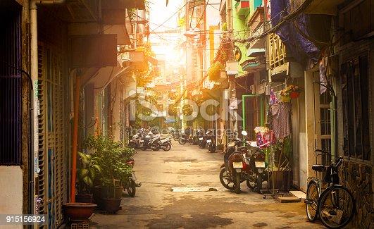 istock Little street of Ho Chi Minh city, Vietnam 915156924