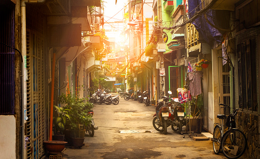 Little Street Of Ho Chi Minh City Vietnam Stock Photo - Download Image Now