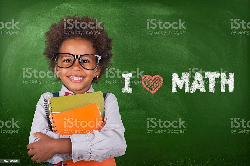 Little student girl stock photo
