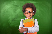 child, student, chalkboard, notebook, school