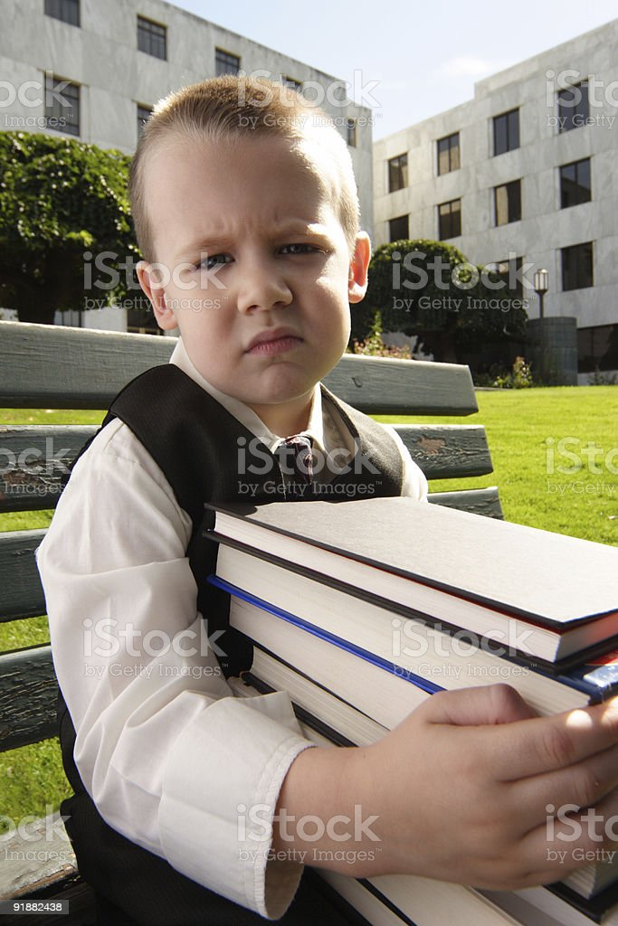 Little Student Overworked royalty-free stock photo