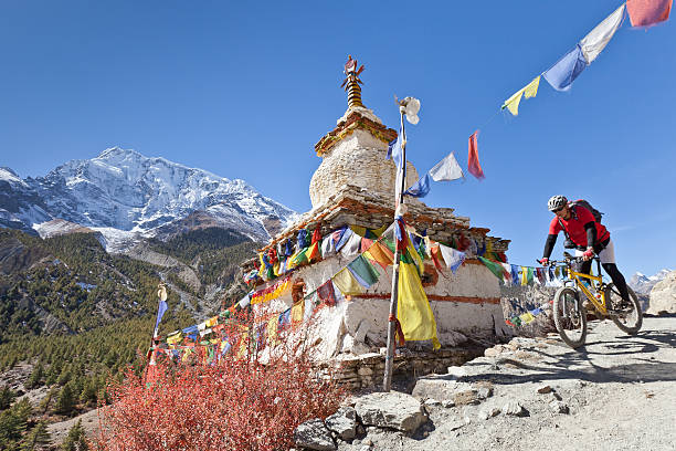 Kleine stupa im Annapurna, Nepal-Circuit – Foto