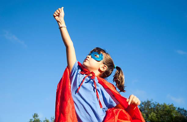 little superhero girl - superwoman barn bildbanksfoton och bilder