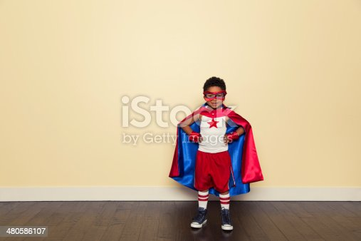 Even young superheroes need to train to be stronger. Just add copy for a powerful concept.