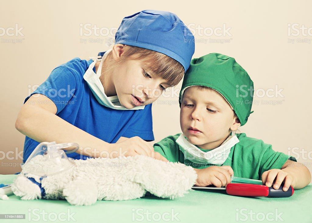 Little surgeons stock photo