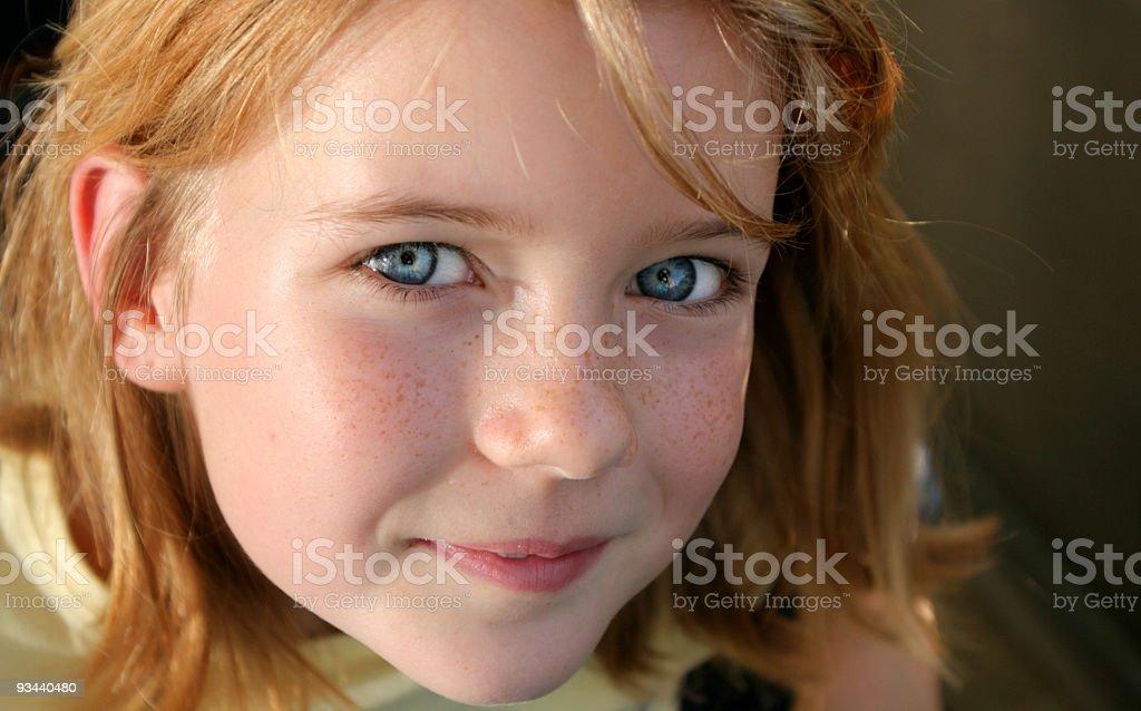 Kleine süße Sommersprosse Lizenzfreies stock-foto