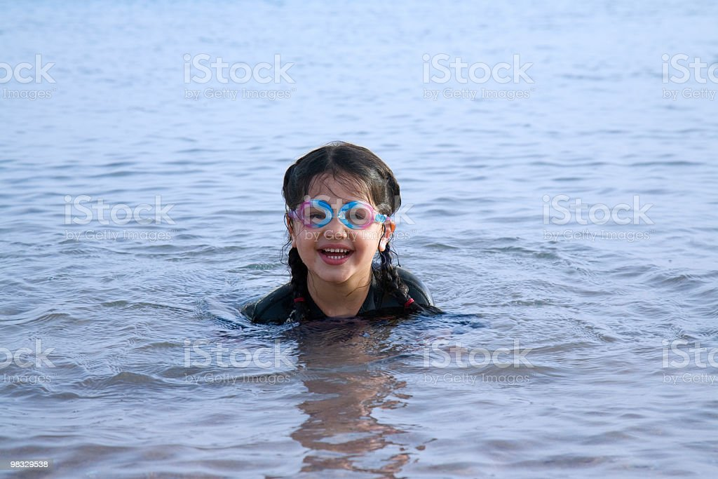 Little Swimer royalty-free stock photo