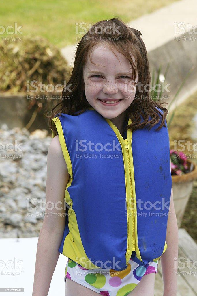 Little nadador foto de stock libre de derechos