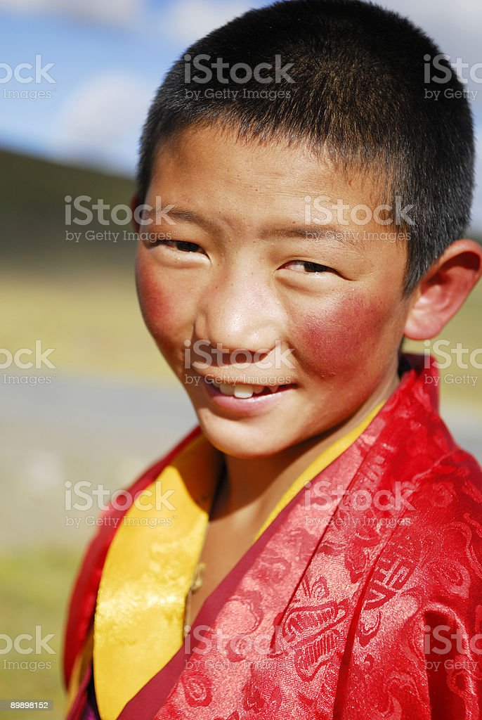 Little Tibetan Monk royalty-free stock photo