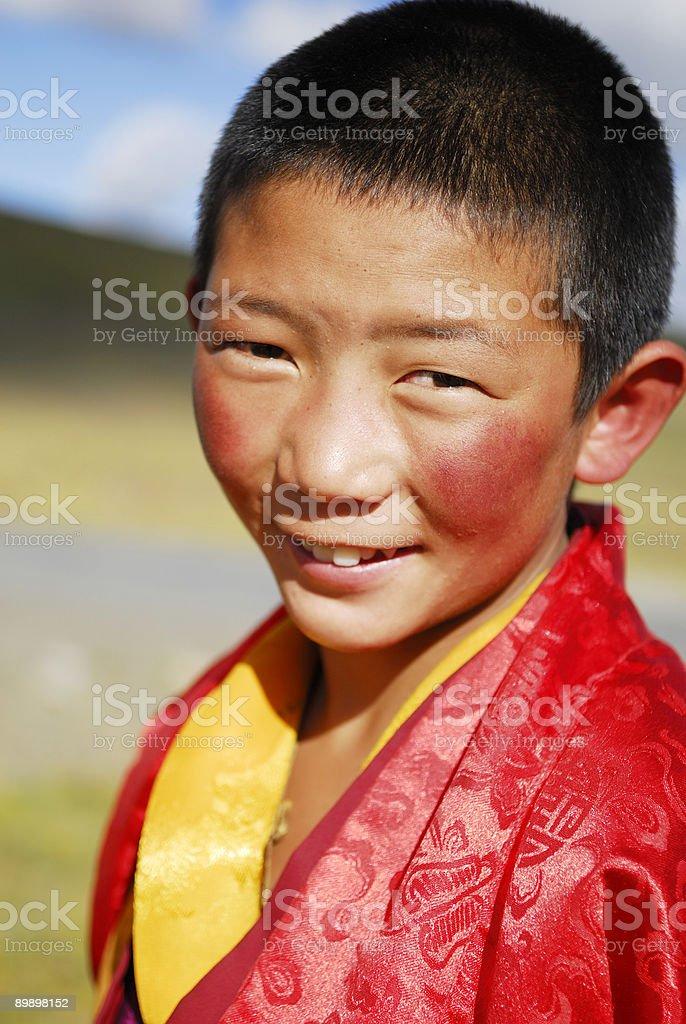 Petit moine tibétain photo libre de droits