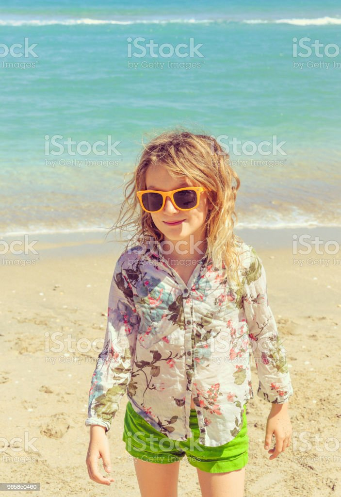 Little Tourist in Paradise - Royalty-free 6-7 Years Stock Photo