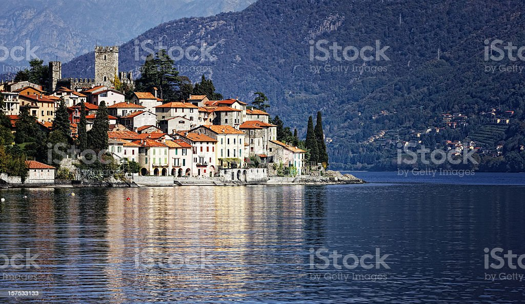 Little Town on Lake Como. Color Image stock photo