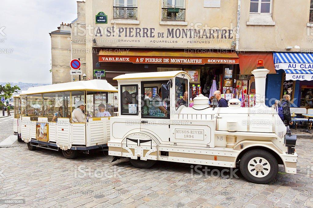 Little Train of Montmartre, Paris. royalty-free stock photo