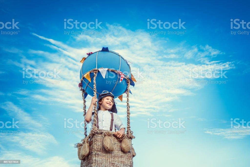 Little traveler stock photo