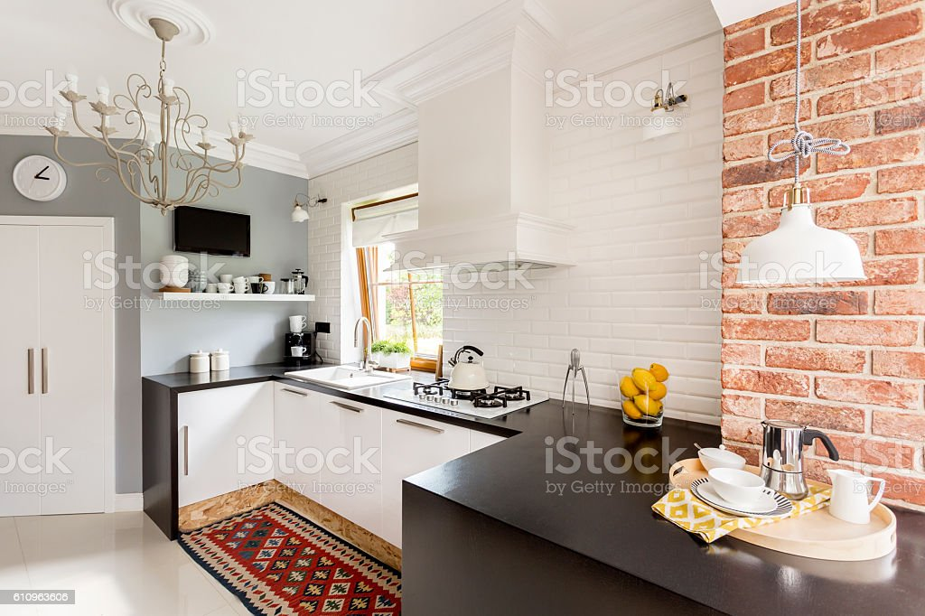 Little trendy kitchen stock photo