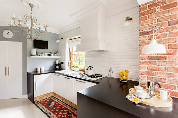 Little trendy kitchen - foto de stock