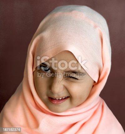 istock Little Turkish girl 187152374