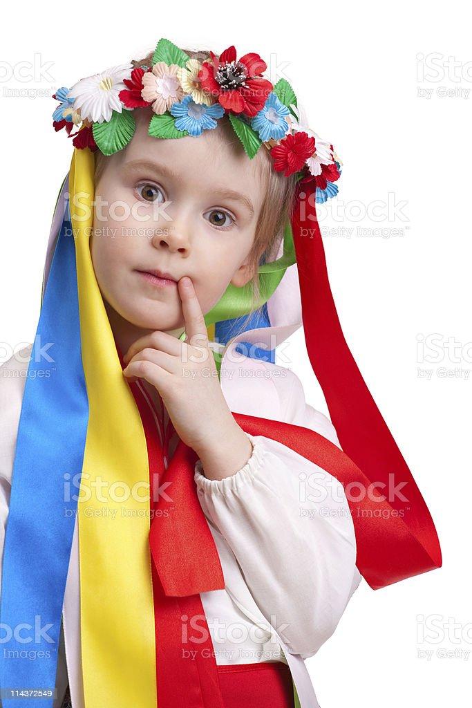 Little ukrainian girl royalty-free stock photo