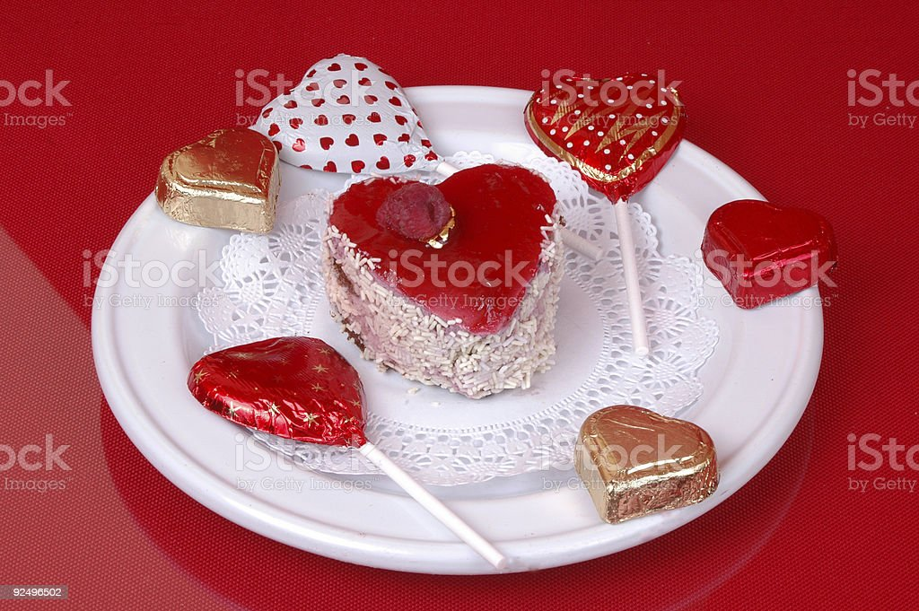 Little valentine cake royalty-free stock photo