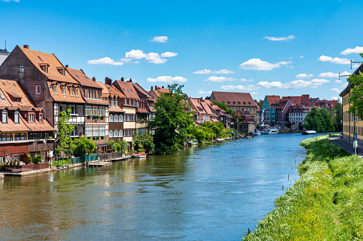 Little Venice at Bamberg in Bavaria, Germany