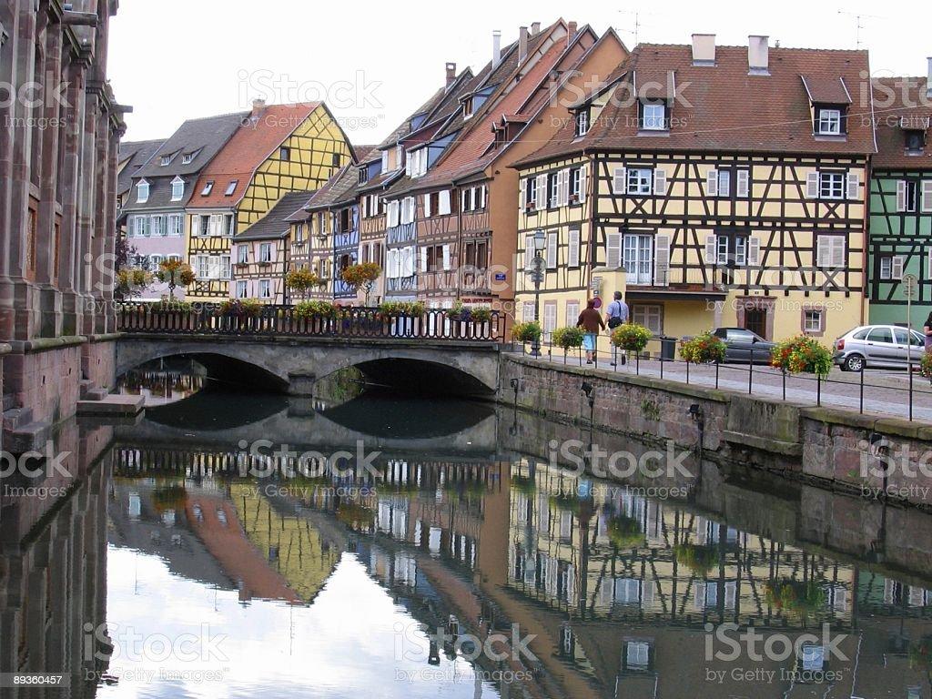 Little Venice  at Colmar - Alsace region France royaltyfri bildbanksbilder