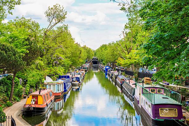 Little Venice in London Regent'€™s canal, Little Venice in London, UK canal stock pictures, royalty-free photos & images