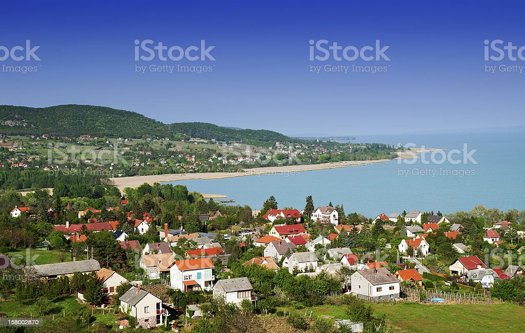 Little village at Lake Balaton,Hungary stock photo