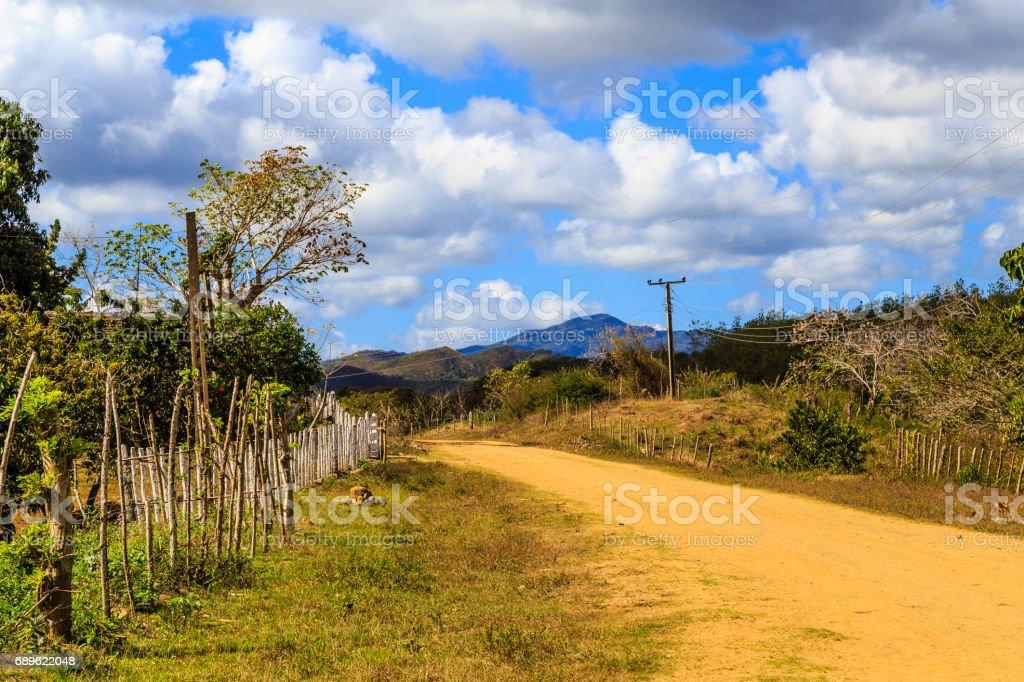 Little village in Cuba stock photo