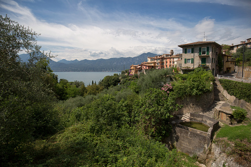 Little village on a hillside at the gardasee