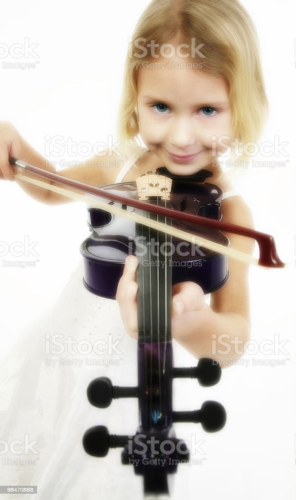 Little Violinist royalty-free stock photo