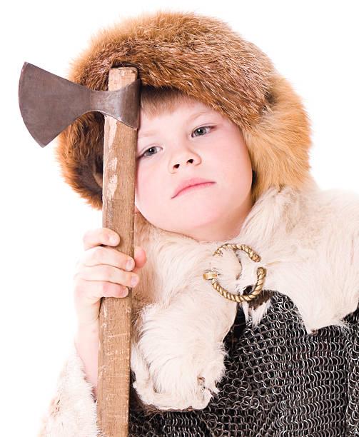Little warrior stock photo