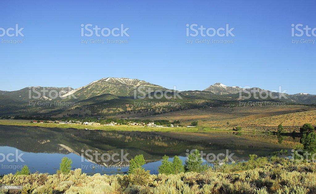 Little Washoe Lake royalty-free stock photo