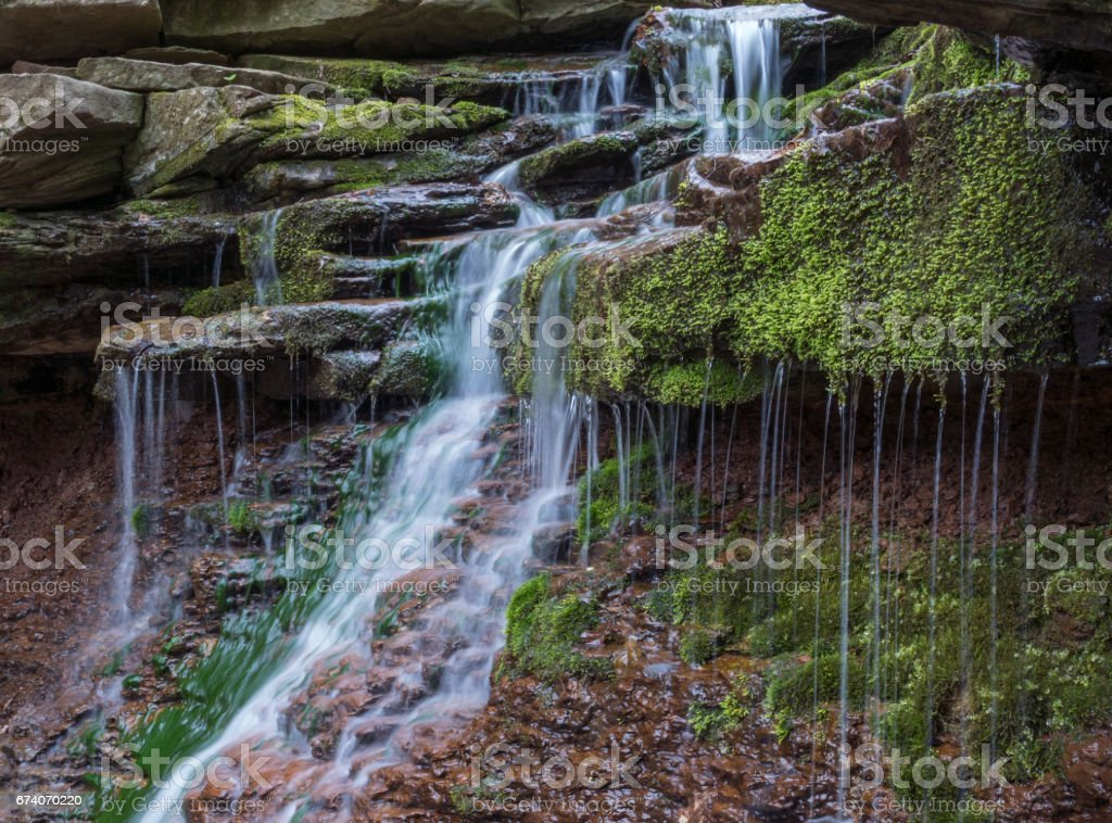 Little waterfall royalty-free stock photo