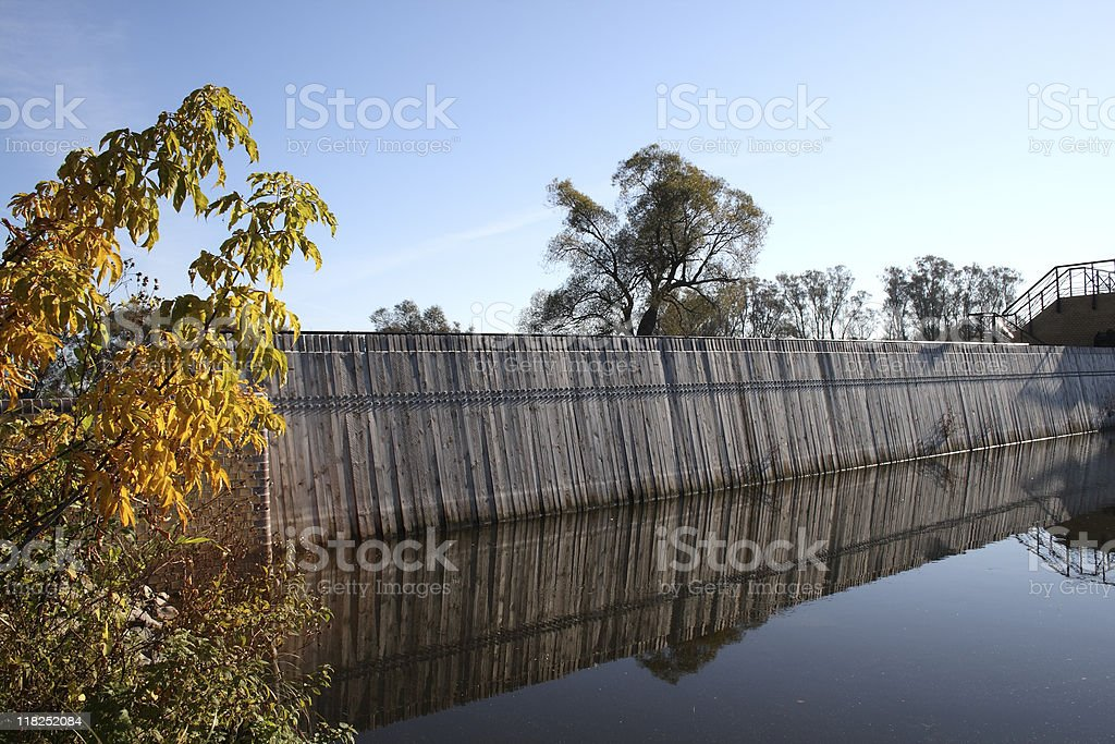 Little Weir on the Havel River stock photo