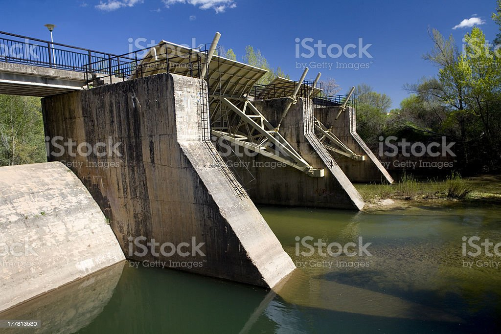 Little Weir royalty-free stock photo