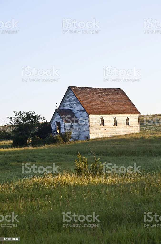 Little White Church royalty-free stock photo